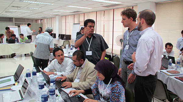 Participants and trainers at GHG inventory training