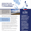 EC-LEDS Fact Sheet: Advancing Low Emission Growth in the Philippines cover page