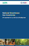 "Image of cover of the brochure ""National Greenhouse Gas Inventories: A Foundation for Low Emission Development?"