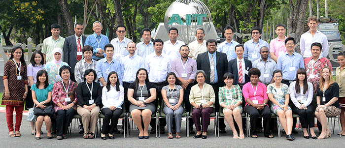 Participants in the GHG inventory systems training in Thailand