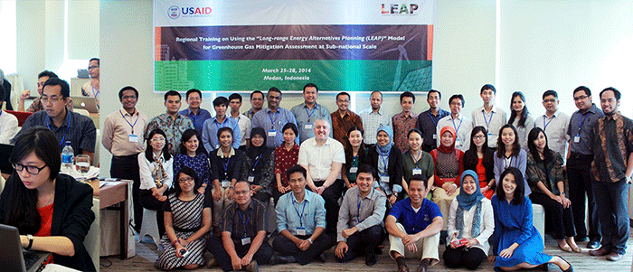 Participants in the LEAP training in Medan, Indonesia